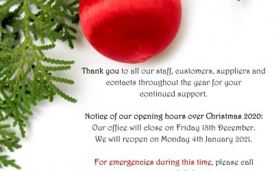 Seasons Greetings and Christmas Opening Hours