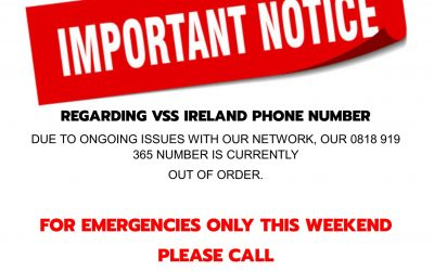 IMPORTANT NOTICE: VSS Ireland Alternative Emergency Phone Number This Weekend